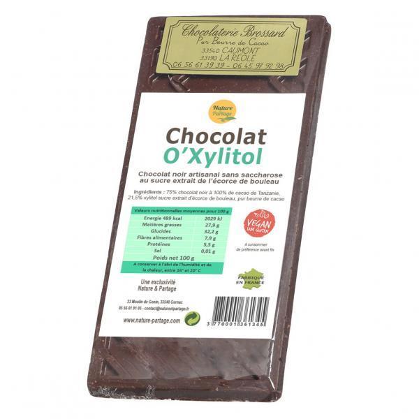 Chocolat noir au Xylitol sucre de bouleau
